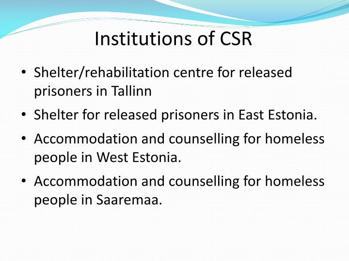 Institutions of CSR