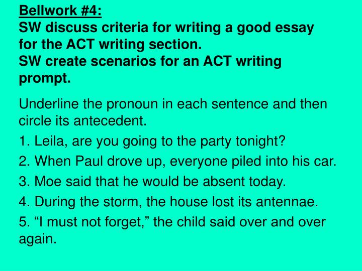 act writing section