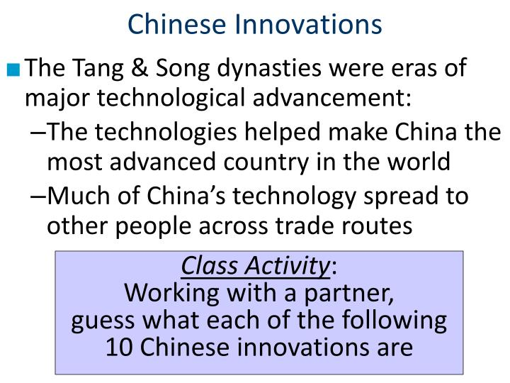 Chinese Innovations