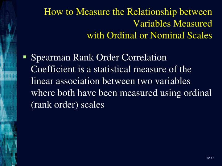 How to Measure the Relationship between Variables Measured