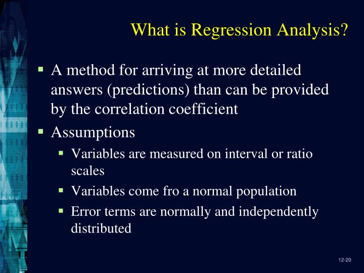 What is Regression Analysis?
