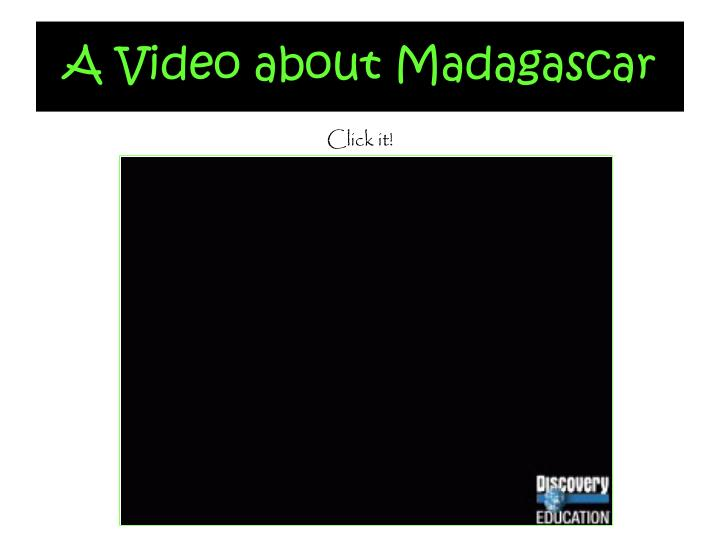 A Video about Madagascar