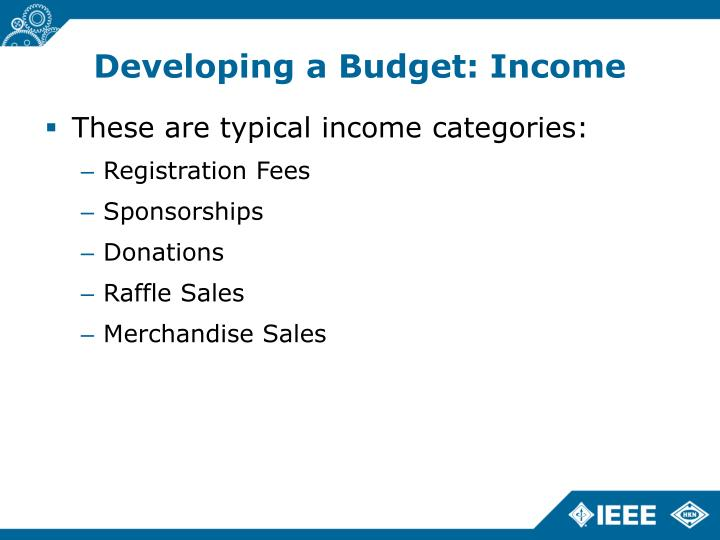 Developing a Budget: Income