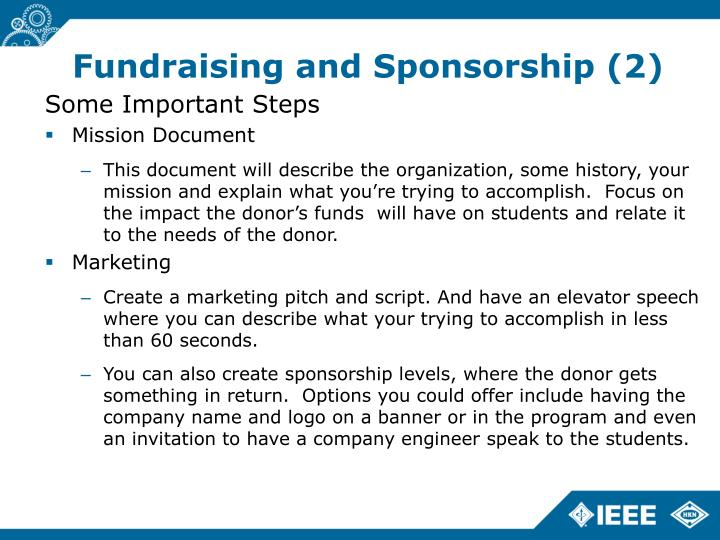 Fundraising and Sponsorship (2)