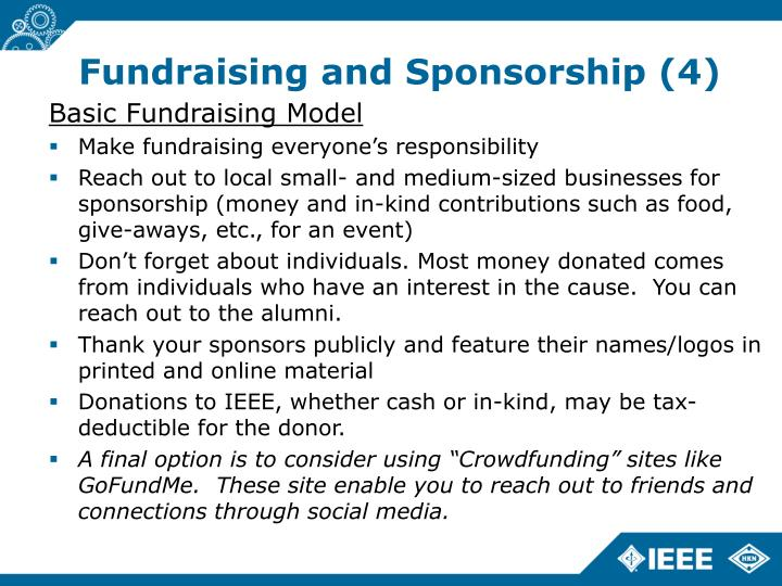 Fundraising and Sponsorship (4)