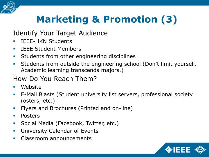 Marketing & Promotion (3)