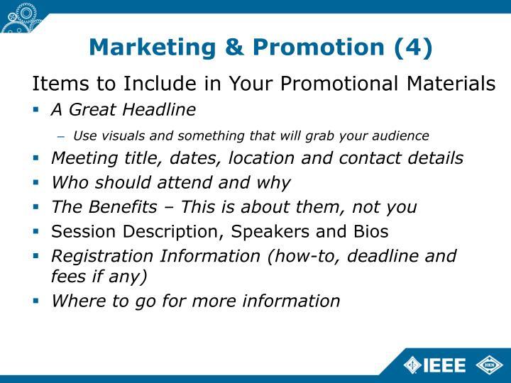 Marketing & Promotion (4)