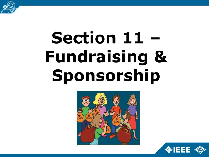 Section 11 – Fundraising & Sponsorship