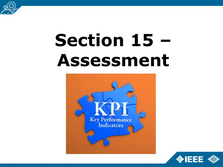 Section 15 – Assessment
