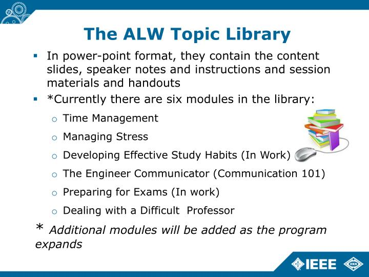 The ALW Topic Library