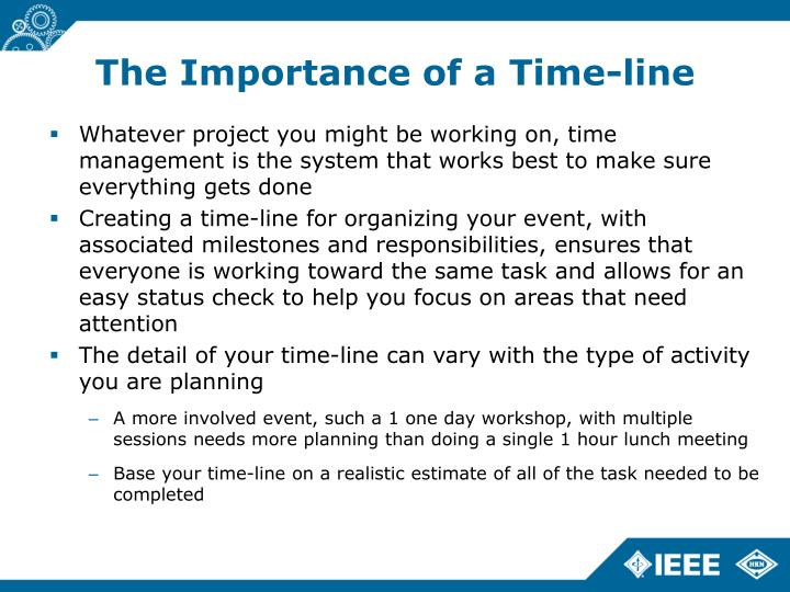 The Importance of a Time-line