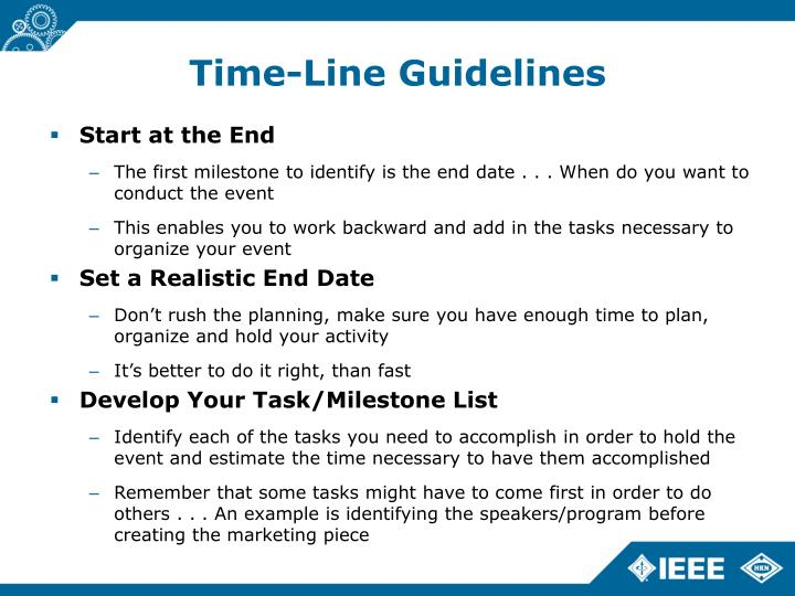 Time-Line Guidelines
