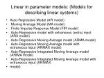 linear in parameter models models for describing linear systems
