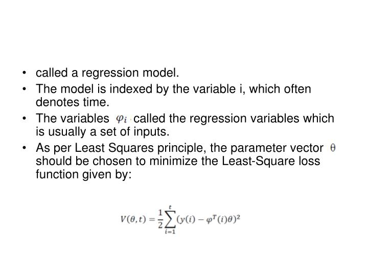 called a regression model.