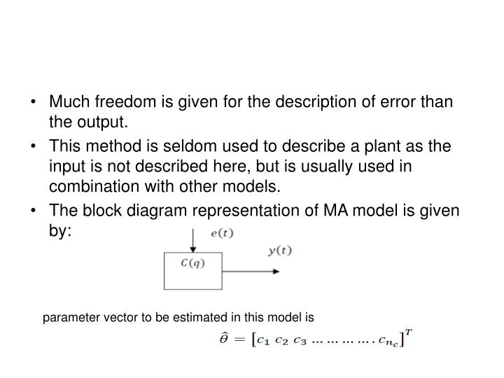 Much freedom is given for the description of error than the output.