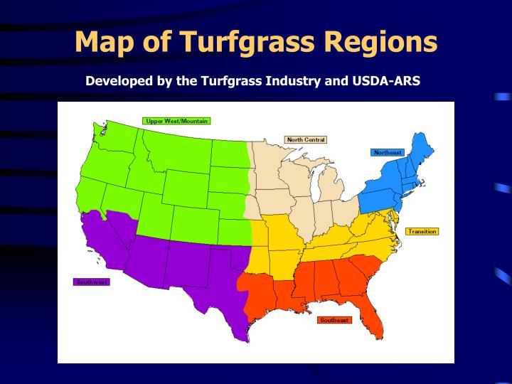 Map of Turfgrass Regions