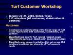 turf customer workshop