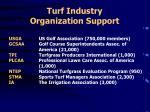 turf industry organization support