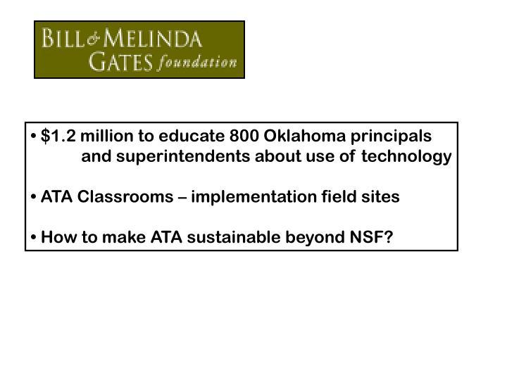 $1.2 million to educate 800 Oklahoma principals