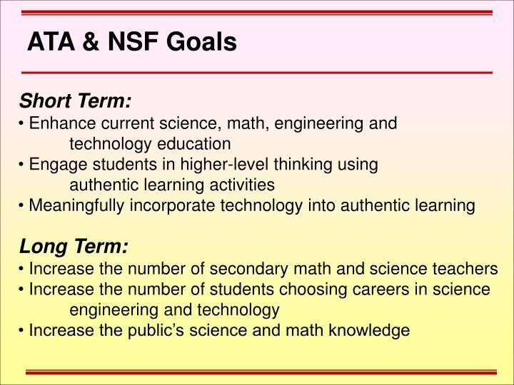 ATA & NSF Goals