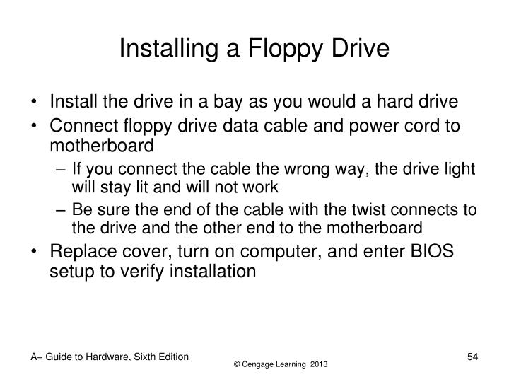 Installing a Floppy Drive
