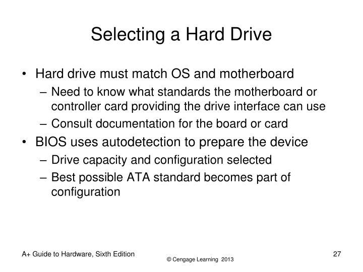 Selecting a Hard Drive