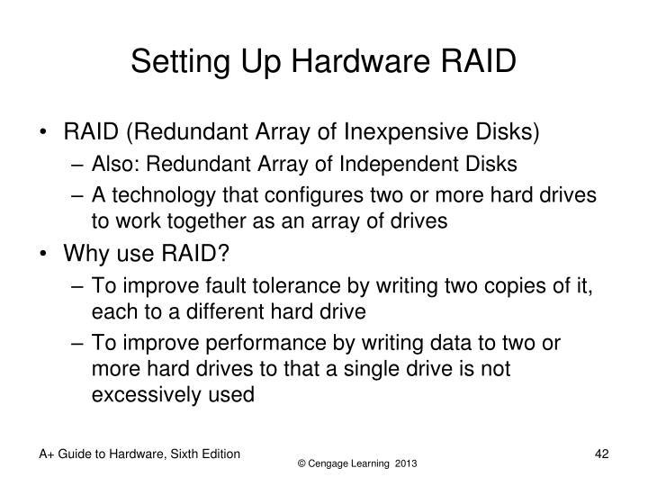 Setting Up Hardware RAID