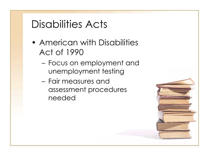 Disabilities Acts