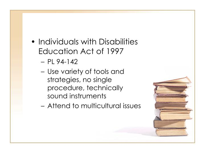 Individuals with Disabilities Education Act of 1997