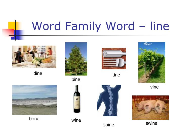 Word Family Word – line