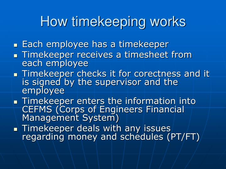 How timekeeping works