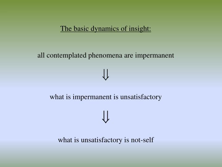 The basic dynamics of insight: