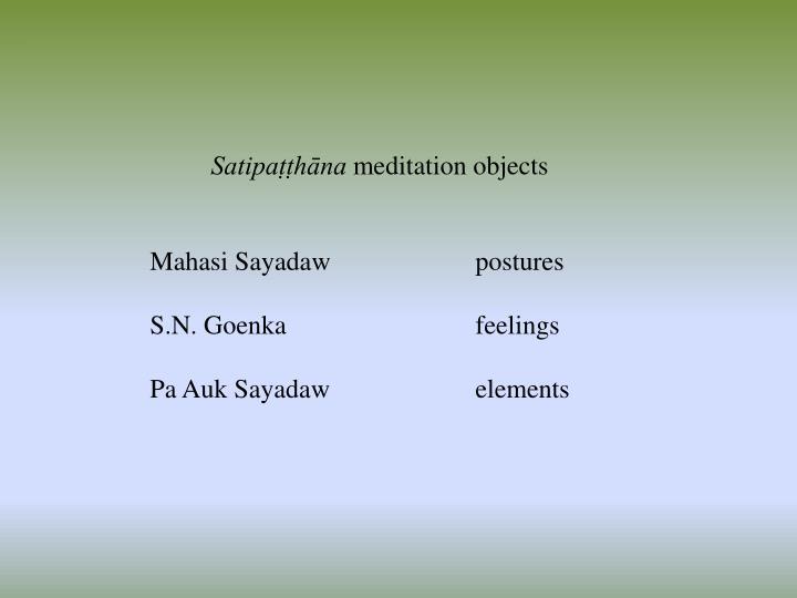Satipaṭṭhāna