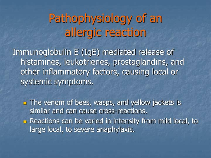 Pathophysiology of an