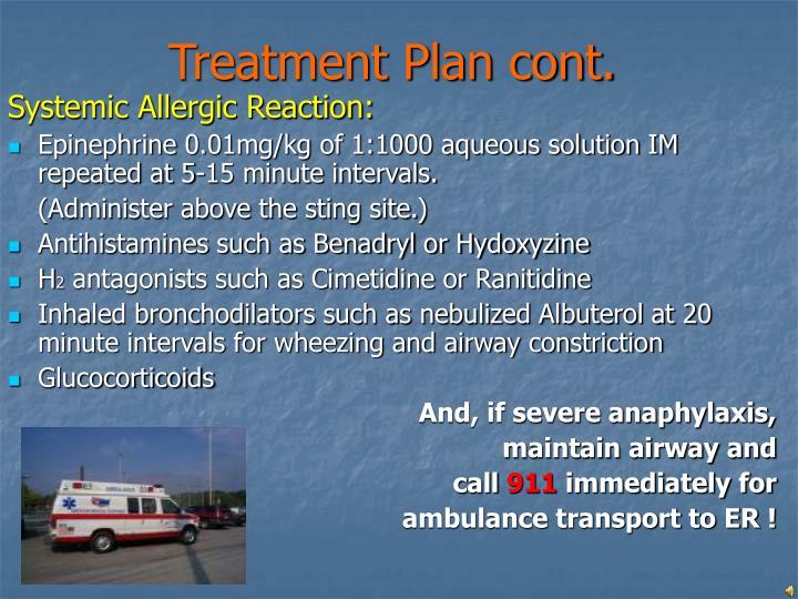 Treatment Plan cont.