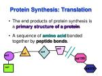 protein synthesis translation1