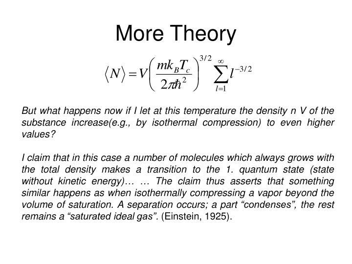 More Theory