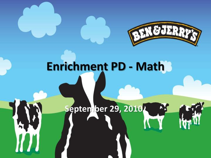 Enrichment pd math