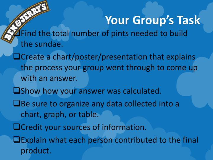Your Group's Task