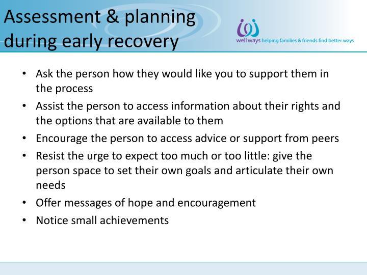 Assessment & planning