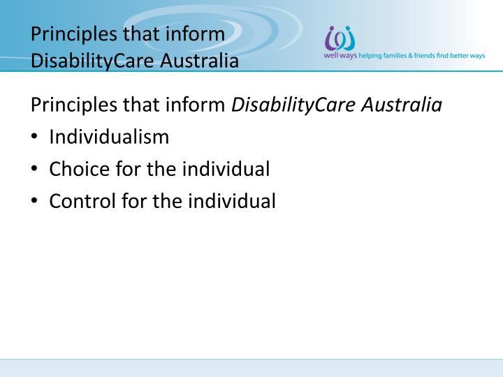 Principles that inform