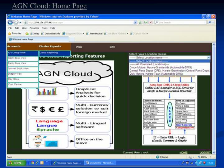 AGN Cloud: Home Page
