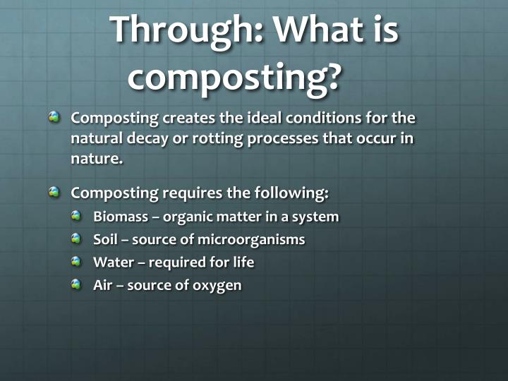 Through: What is composting?
