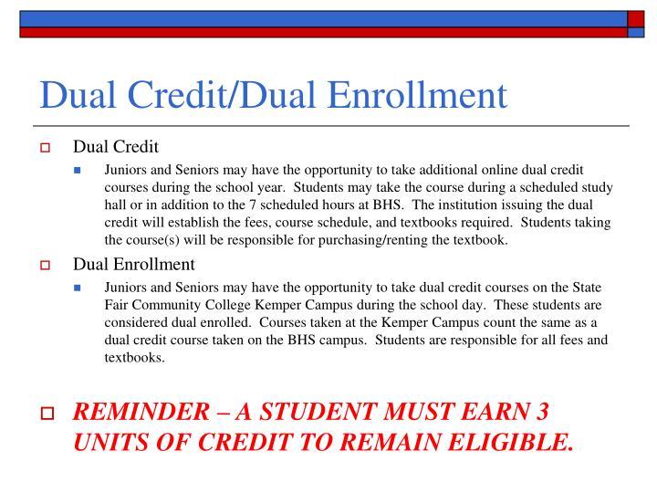 Dual Credit/Dual Enrollment