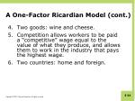 a one factor ricardian model cont1