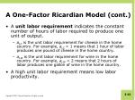 a one factor ricardian model cont2
