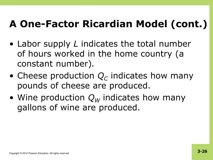 A One-Factor Ricardian Model (cont.)