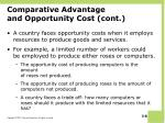 comparative advantage and opportunity cost cont
