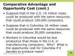 comparative advantage and opportunity cost cont1
