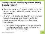 comparative advantage with many goods cont1